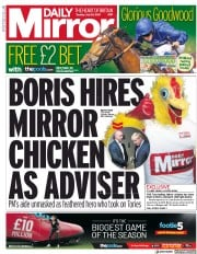 Daily Mirror (UK) Newspaper Front Page for 30 July 2019