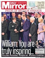 Daily Mirror (UK) Newspaper Front Page for 31 October 2017
