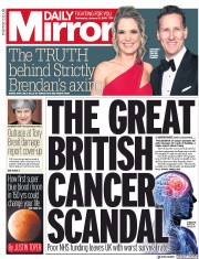Daily Mirror (UK) Newspaper Front Page for 31 January 2018