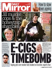 Daily Mirror (UK) Newspaper Front Page for 31 March 2015