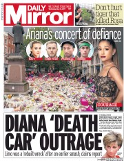 Daily Mirror (UK) Newspaper Front Page for 31 May 2017