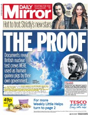 Daily Mirror (UK) Newspaper Front Page for 31 May 2018