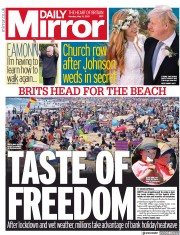 Daily Mirror () Newspaper Front Page for 31 May 2021