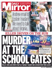 Daily Mirror () Newspaper Front Page for 3 December 2019