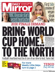 Daily Mirror (UK) Newspaper Front Page for 3 January 2020