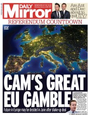 Daily Mirror () Newspaper Front Page for 3 February 2016