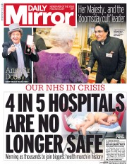 Daily Mirror (UK) Newspaper Front Page for 3 March 2017