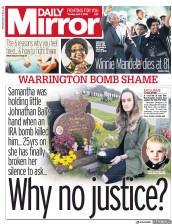Daily Mirror (UK) Newspaper Front Page for 3 April 2018