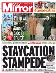 Daily Mirror (UK) Newspaper Front Page for 3 April 2021