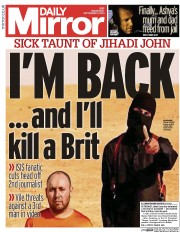 Daily Mirror (UK) Newspaper Front Page for 3 September 2014