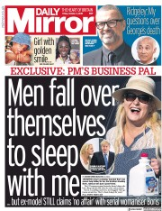 Daily Mirror (UK) Newspaper Front Page for 4 October 2019