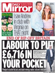 Daily Mirror (UK) Newspaper Front Page for 4 December 2019