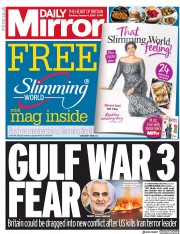 Daily Mirror (UK) Newspaper Front Page for 4 January 2020