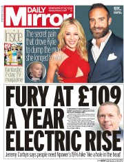 Daily Mirror (UK) Newspaper Front Page for 4 February 2017