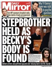 Daily Mirror (UK) Newspaper Front Page for 4 March 2015