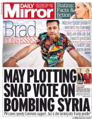 Daily Mirror (UK) Newspaper Front Page for 4 May 2017
