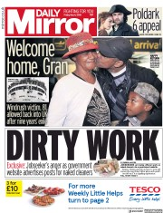 Daily Mirror (UK) Newspaper Front Page for 4 May 2018