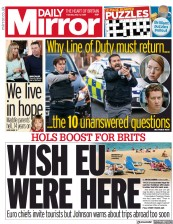 Daily Mirror front page for 4 May 2021