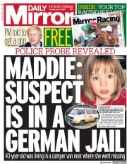 Daily Mirror front page for 4 June 2020