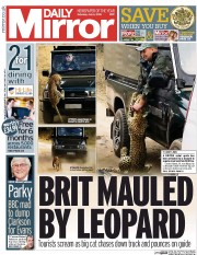 Daily Mirror (UK) Newspaper Front Page for 4 July 2015