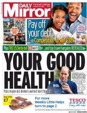 Daily Mirror front page for 4 July 2020