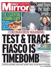 Daily Mirror front page for 4 August 2020