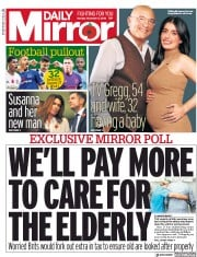 Daily Mirror (UK) Newspaper Front Page for 5 November 2018