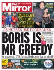 Daily Mirror (UK) Newspaper Front Page for 5 December 2019