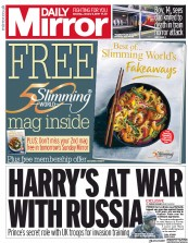 Daily Mirror (UK) Newspaper Front Page for 5 January 2019