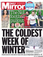 Daily Mirror (UK) Newspaper Front Page for 5 February 2018
