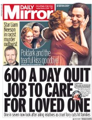 Daily Mirror (UK) Newspaper Front Page for 5 February 2019