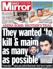 Daily Mirror (UK) Newspaper Front Page for 5 February 2020