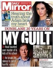 Daily Mirror (UK) Newspaper Front Page for 5 March 2016