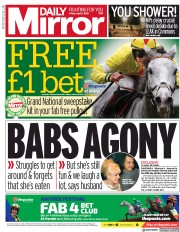 Daily Mirror (UK) Newspaper Front Page for 5 April 2019