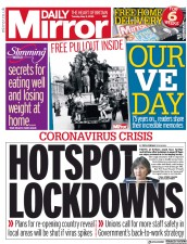 Daily Mirror (UK) Newspaper Front Page for 5 May 2020