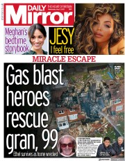 Daily Mirror front page for 5 May 2021