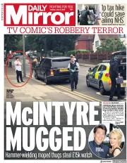 Daily Mirror (UK) Newspaper Front Page for 5 June 2018
