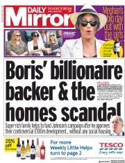 Daily Mirror (UK) Newspaper Front Page for 5 July 2019