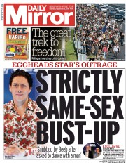 Daily Mirror (UK) Newspaper Front Page for 5 September 2015