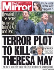 Daily Mirror (UK) Newspaper Front Page for 6 December 2017