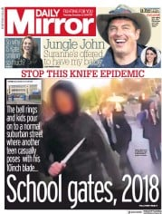 Daily Mirror (UK) Newspaper Front Page for 6 December 2018