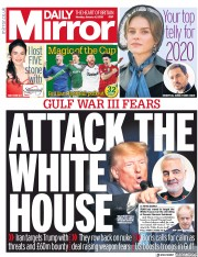Daily Mirror (UK) Newspaper Front Page for 6 January 2020