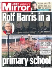 Daily Mirror () Newspaper Front Page for 6 February 2019