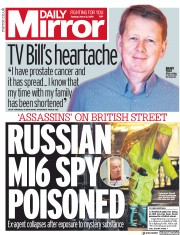 Daily Mirror (UK) Newspaper Front Page for 6 March 2018