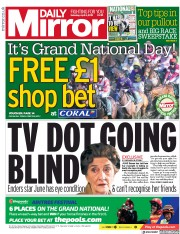 Daily Mirror () Newspaper Front Page for 6 April 2019