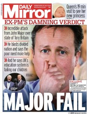 Daily Mirror (UK) Newspaper Front Page for 6 May 2015
