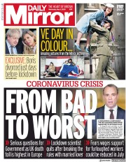 Daily Mirror (UK) Newspaper Front Page for 6 May 2020