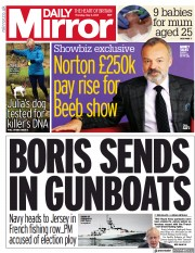 Daily Mirror front page for 6 May 2021