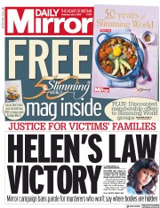Daily Mirror (UK) Newspaper Front Page for 6 July 2019