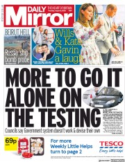 Daily Mirror front page for 6 August 2020
